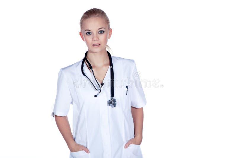 Ärztin mit Stethoskop lizenzfreie stockfotos