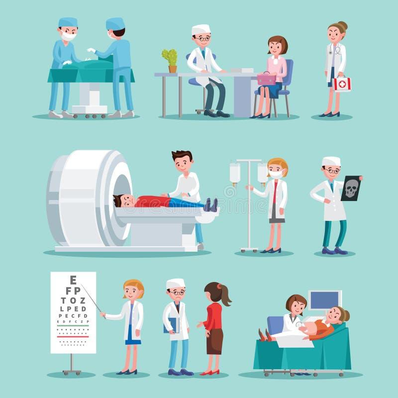 Ärztliche Behandlungs-Ikonen eingestellt vektor abbildung