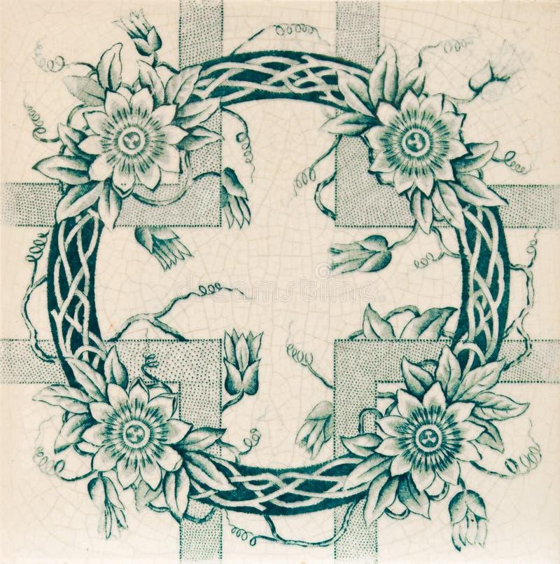 Ästhetische Girlande-Fliese stockfoto