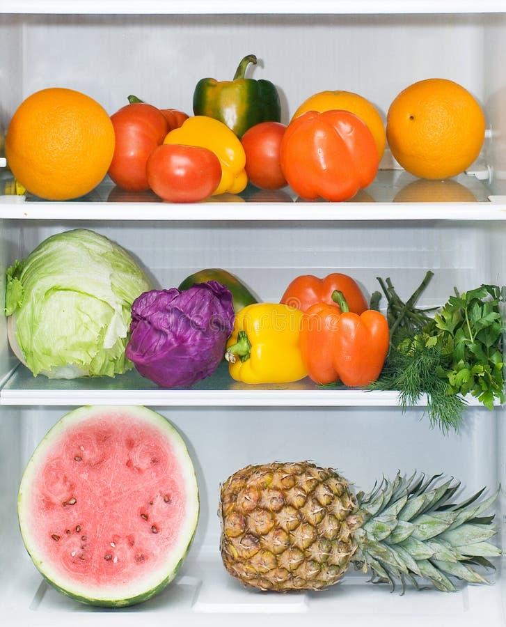 äta det fulla sunda kylskåp royaltyfria foton
