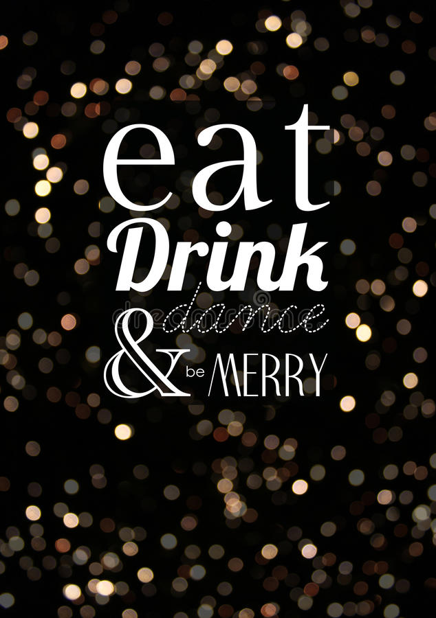 Äta drinkdansen och var glad fotografering för bildbyråer