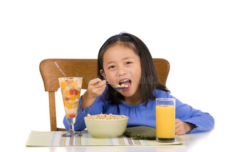 äta för frukost arkivfoto