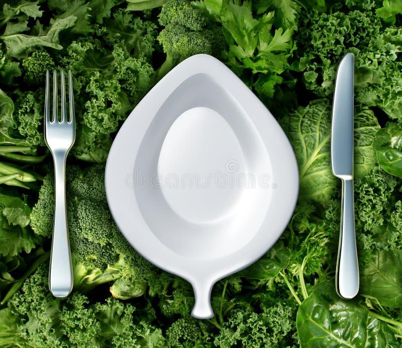 Äta gröna grönsaker vektor illustrationer