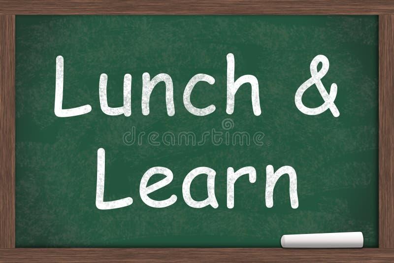 Äta lunch och lär royaltyfria foton