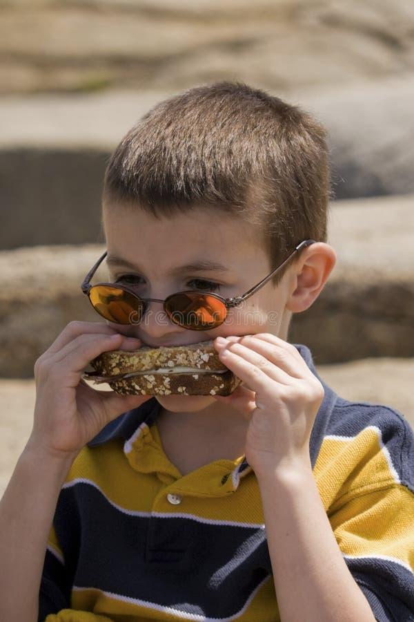äta lunch picknicken royaltyfri bild