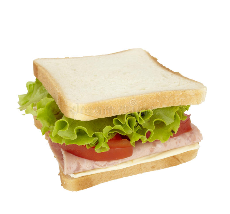 äta mellanmål för matmålsmörgås royaltyfri bild