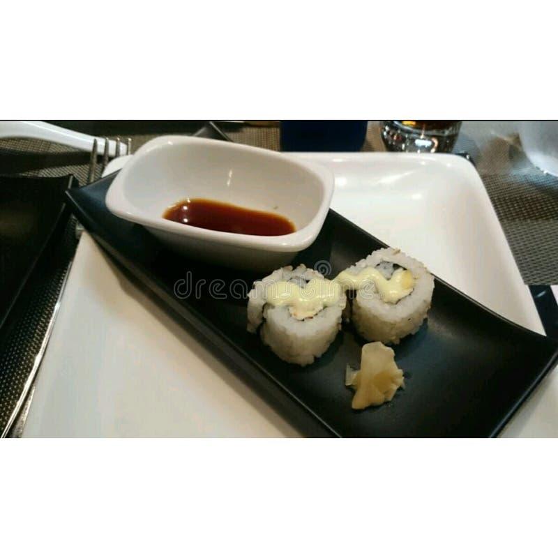 Äta middag för sushibot royaltyfri bild