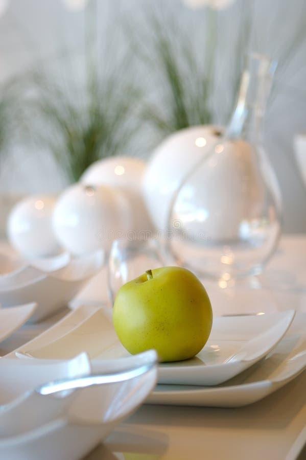 äta middag formell ställelokalinställning royaltyfri fotografi