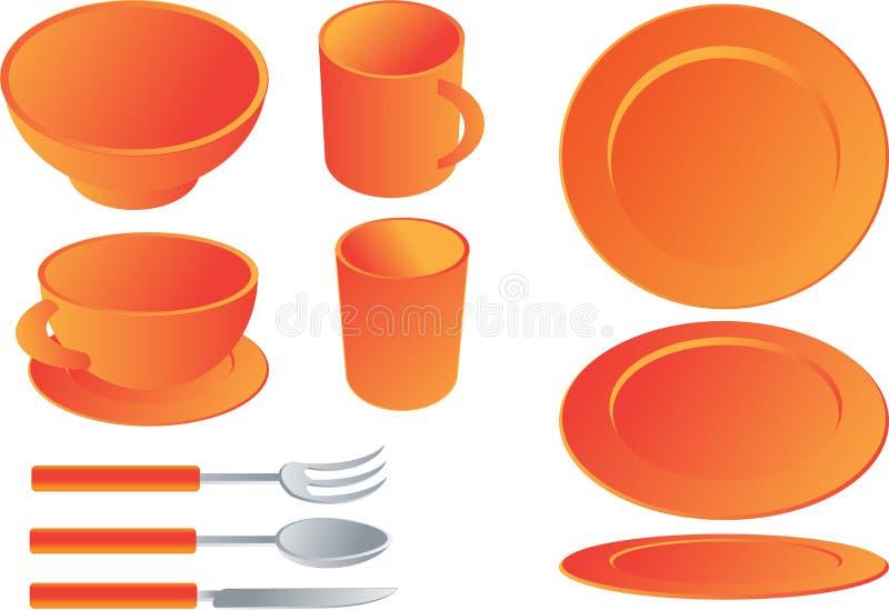 äta middag illustrationset royaltyfri illustrationer