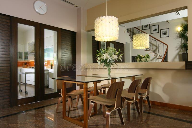 äta middag interior för design royaltyfri fotografi