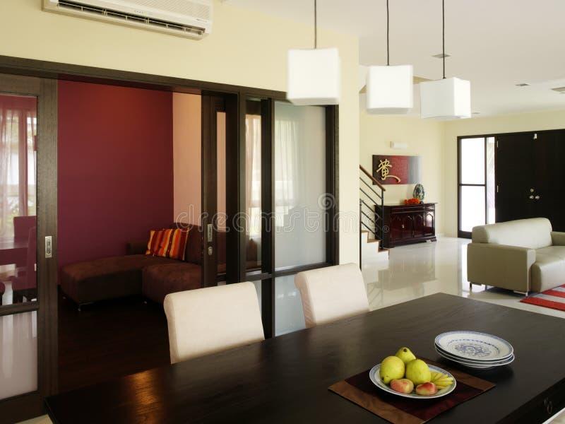 äta middag interior för design royaltyfri bild