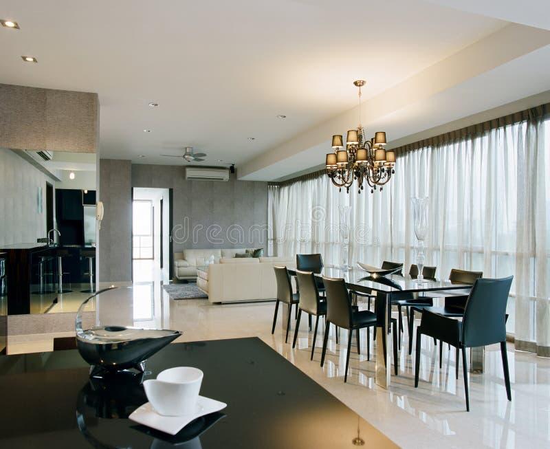 äta middag interior för områdesdesign royaltyfri bild