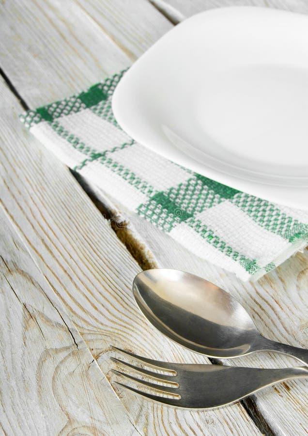 Äta middag lättheter och plattan. royaltyfri bild