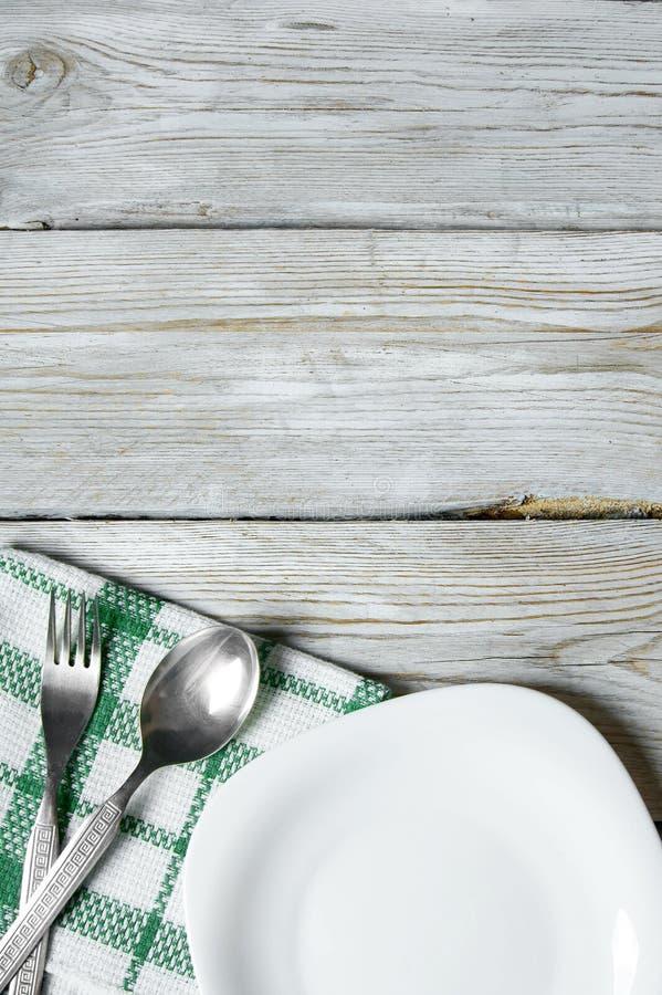 Äta middag lättheter och plattan. royaltyfri foto