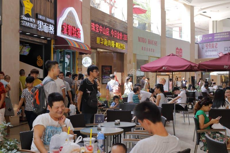 Äta middag område av zhonghuachengaffärsområdet arkivfoto
