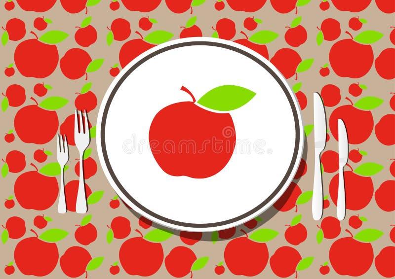 äta middag som är sunt stock illustrationer