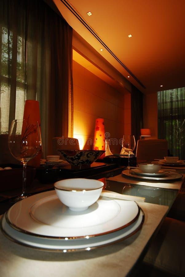äta middag tabell 8 royaltyfria bilder