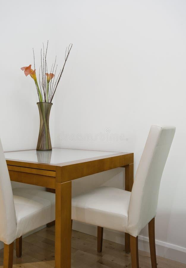 äta middag tabell för detalj royaltyfria bilder