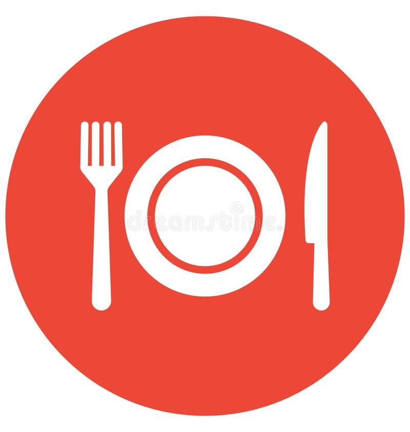 Äta middag vektorsymbolen som kan lätt ändras eller redigera vektor illustrationer