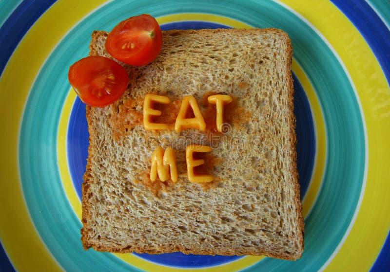 Download äta mig rostat brödord fotografering för bildbyråer. Bild av färgglatt - 503395