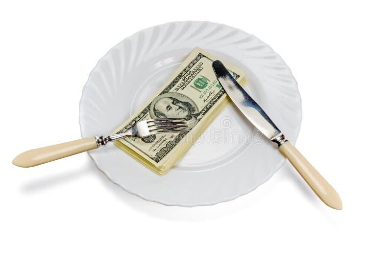 Äta pengarkorruptionbegrepp fotografering för bildbyråer