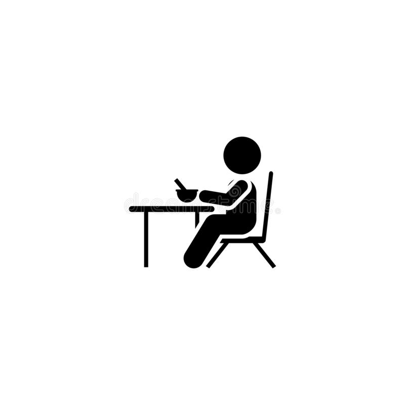 Äta pojken, hemmet, matsymbol Beståndsdel av barnpictogramen H?gv?rdig kvalitets- symbol f?r grafisk design Tecken och symbolsaml stock illustrationer