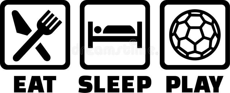 Äta sömnlekhandboll stock illustrationer