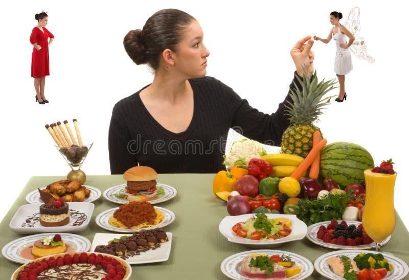 äta som är sunt royaltyfri bild