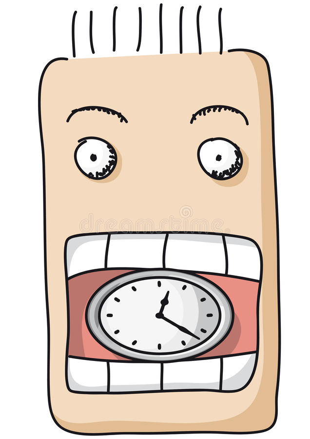äta tid stock illustrationer