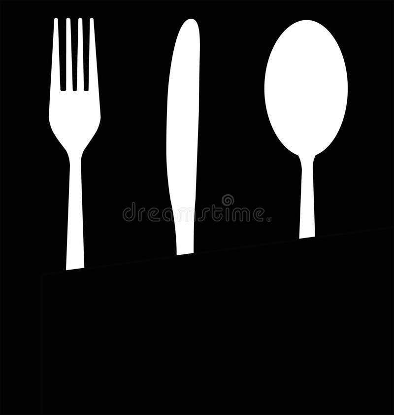 äta utensils royaltyfri illustrationer