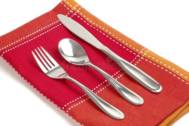 äta utensils royaltyfria foton