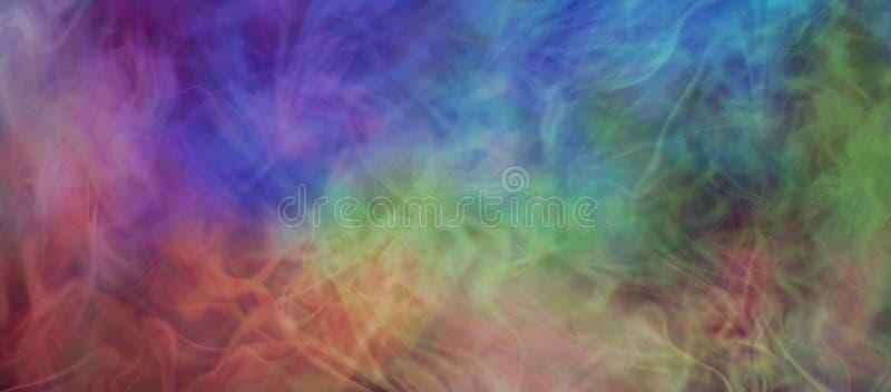 Ätherische gasförmige mehrfarbige Hintergrundfahne lizenzfreie abbildung
