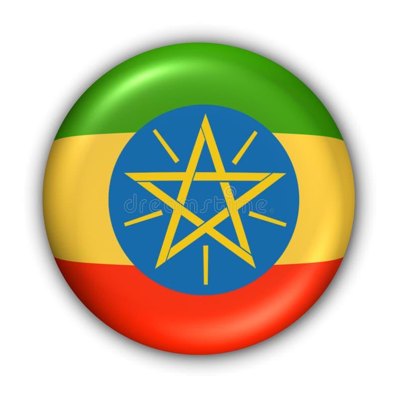 Äthiopien-Markierungsfahne stock abbildung