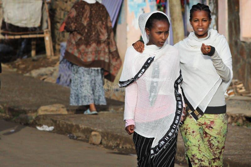 Äthiopien: Schöne äthiopische Mädchen stockfoto