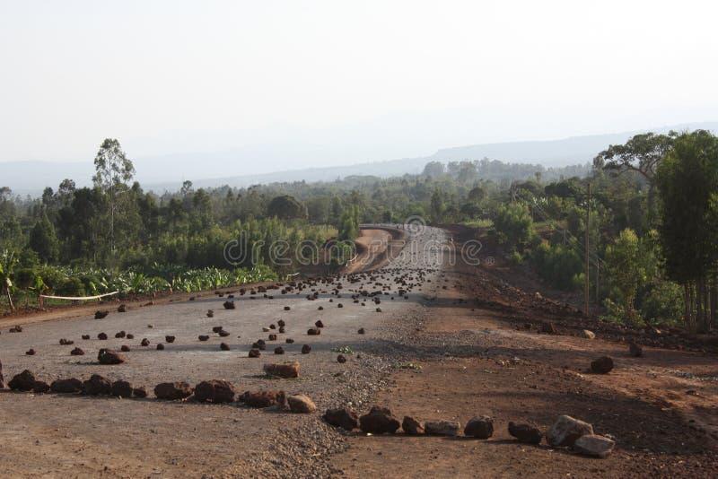 Äthiopien-Straßenblock stockbild