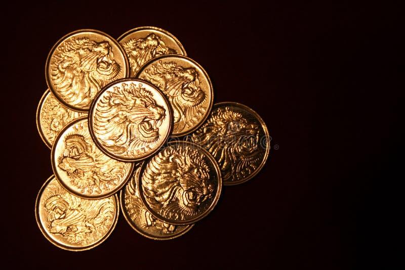 Äthiopische Münzen lizenzfreie stockfotografie
