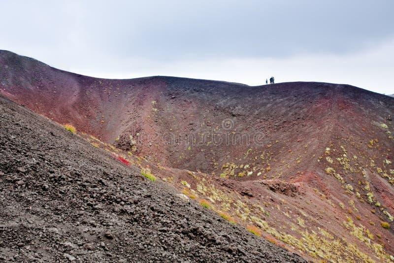 Ätna-Krater, Sizilien, Italien lizenzfreies stockbild