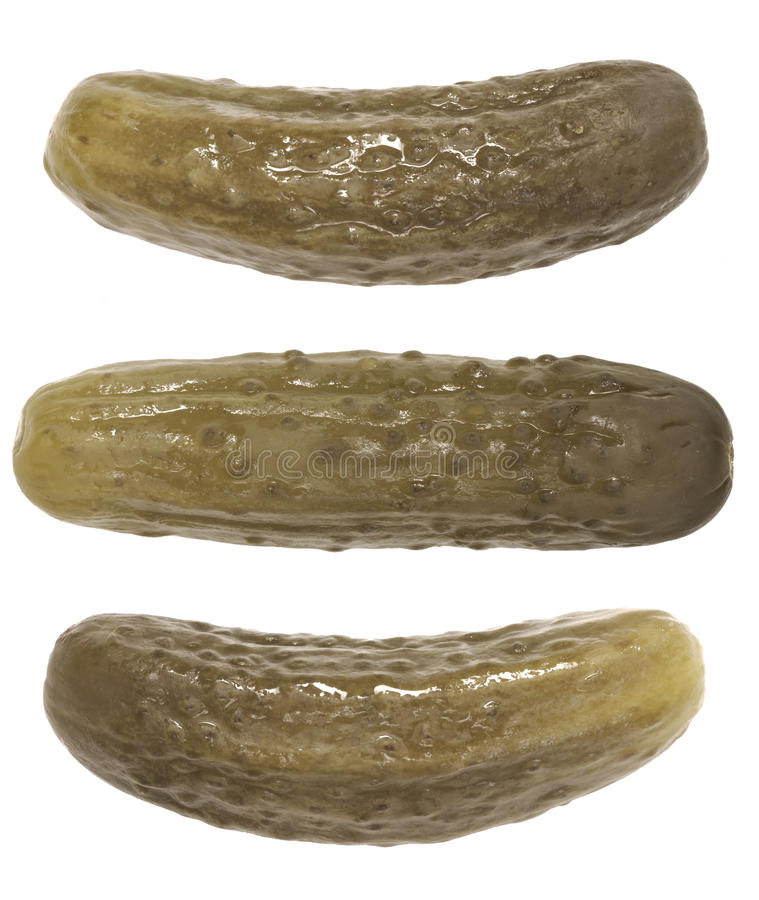 Ättiksgurkor royaltyfri fotografi