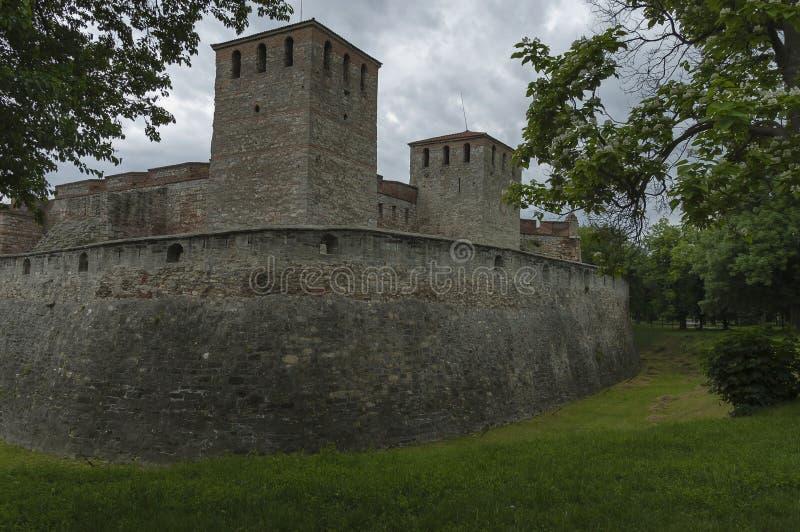 Äußere Ansicht der mittelalterlichen Festung Baba Vida bei der Donau in Vidin-Stadt stockfotografie