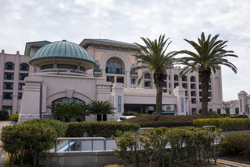 Äußere Ansicht Lotte Hotel Jejus lizenzfreies stockfoto