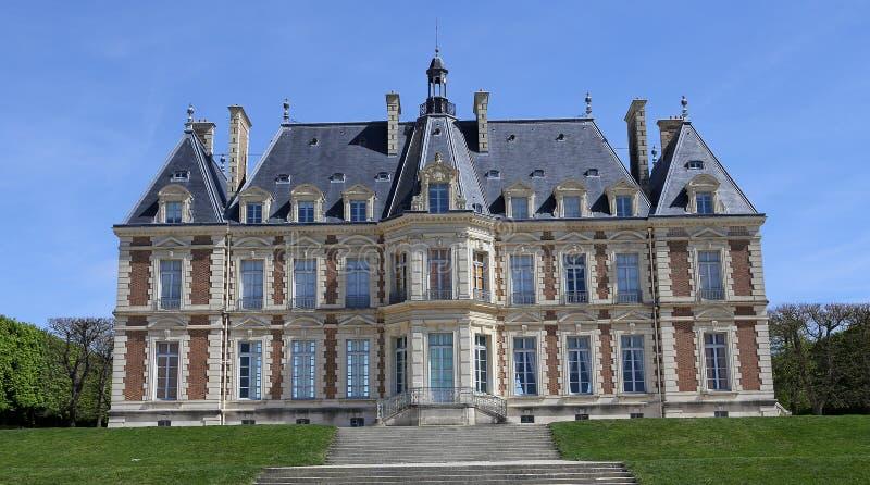 Äußere des Chateaus von Sceaux, Sceaux, Frankreich stockbild