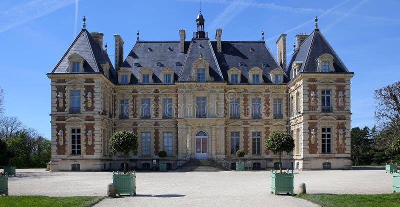 Äußere des Chateaus von Sceaux, Sceaux, Frankreich lizenzfreie stockbilder
