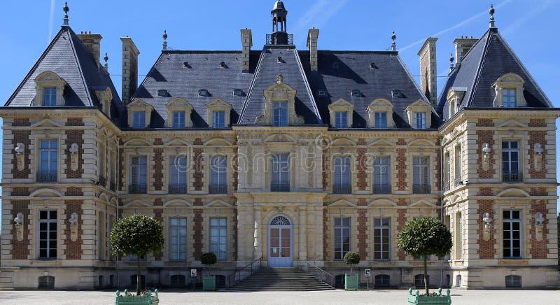 Äußere des Chateaus von Sceaux, Sceaux, Frankreich lizenzfreie stockfotografie