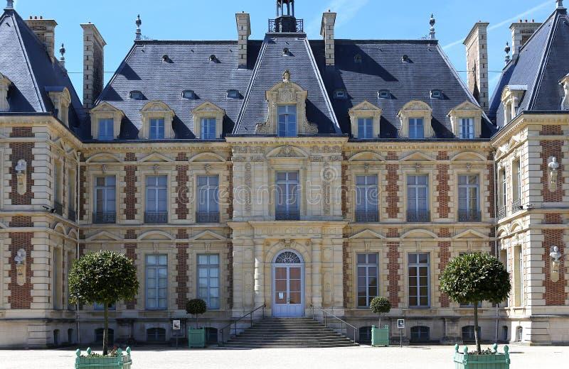 Äußere des Chateaus von Sceaux, Sceaux, Frankreich stockfotos