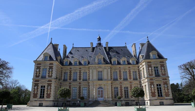 Äußere des Chateaus von Sceaux, Sceaux, Frankreich stockbilder
