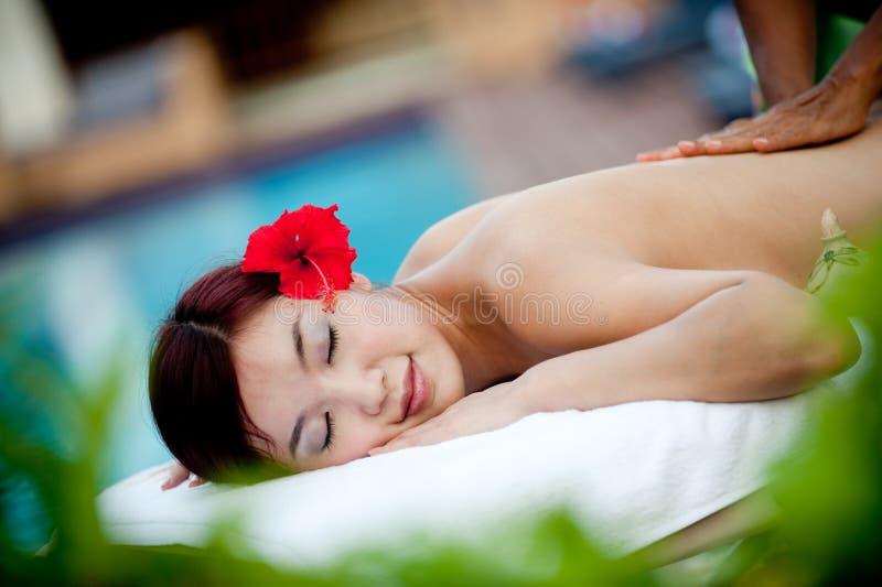 Äußere Massage lizenzfreie stockfotos