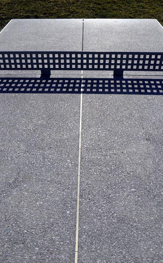 Äußere Tischtennistabelle a stockbilder