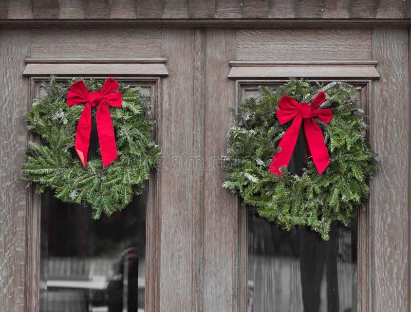 Äußere Weihnachtsdekoration stockbilder