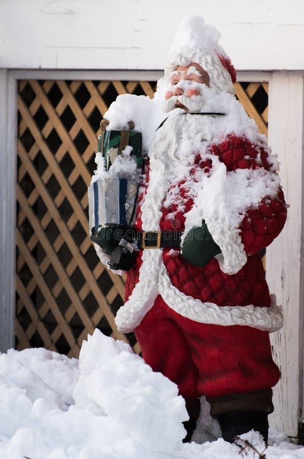 Äußere Weihnachtsdekorationen stockfotografie