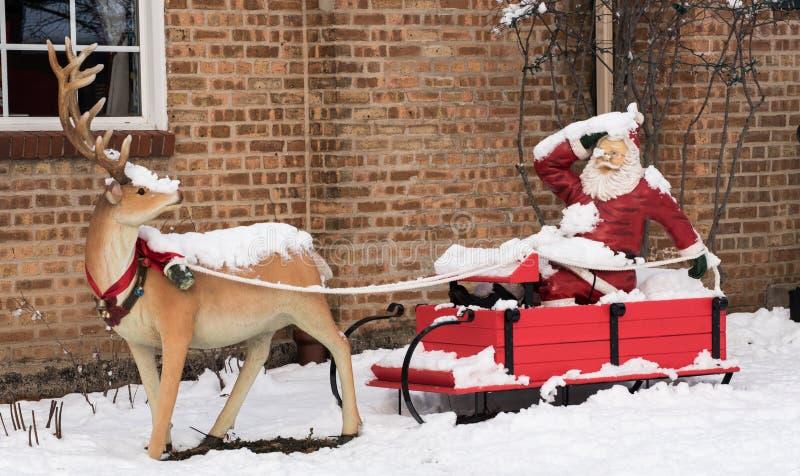 Äußere Weihnachtsdekorationen lizenzfreies stockfoto